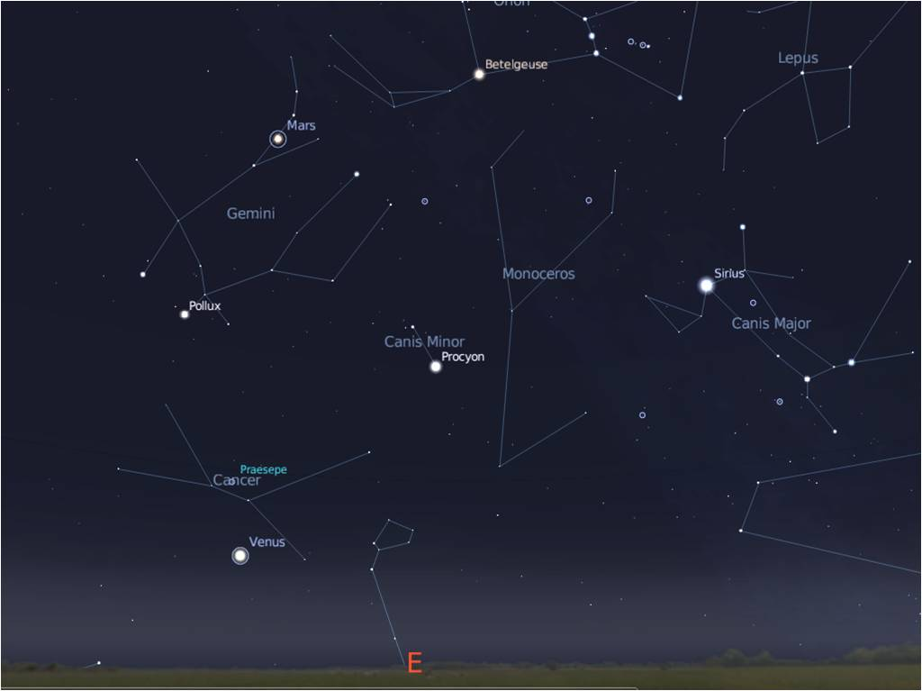 planets and constellations in the sky - photo #12