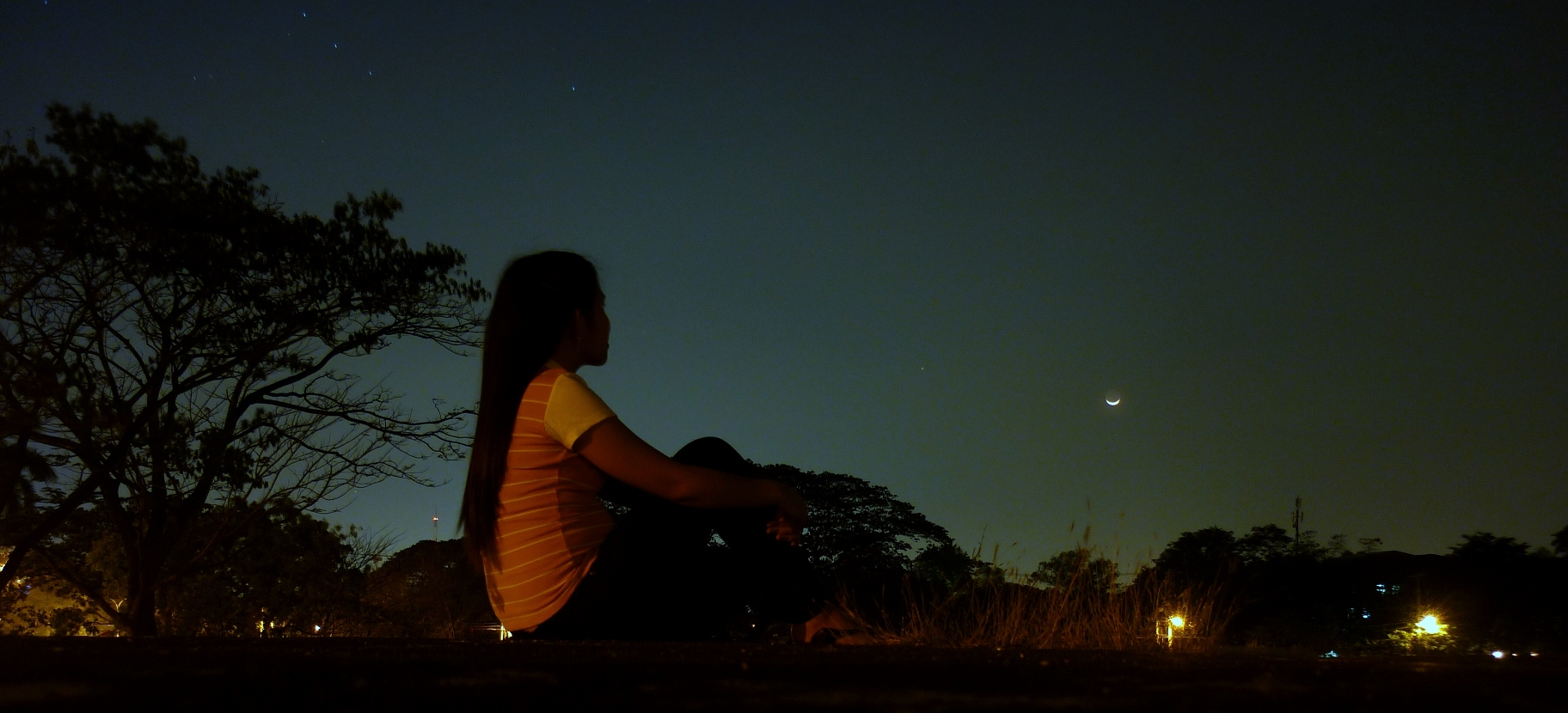Staring At The Beauty Of Night Sky
