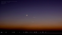 Triple conjunction at dusk - Mercury, Venus and the Young Moon