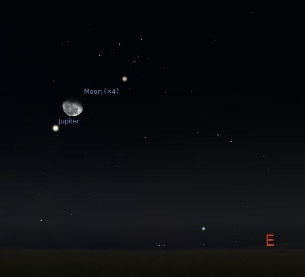 moon and jupiter - oct 5