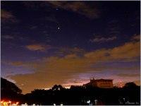 Jupiter and Venus, captured 5 March 2012 at 6:45 pm.