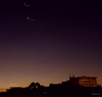 Jupiter, Venus and Mercury at 6:44 pm | UP Diliman, Quezon City