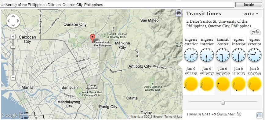 Local transit times for Quezon City, Philippines. source: http://transitofvenus.nl/wp/where-when/local-transit-times/