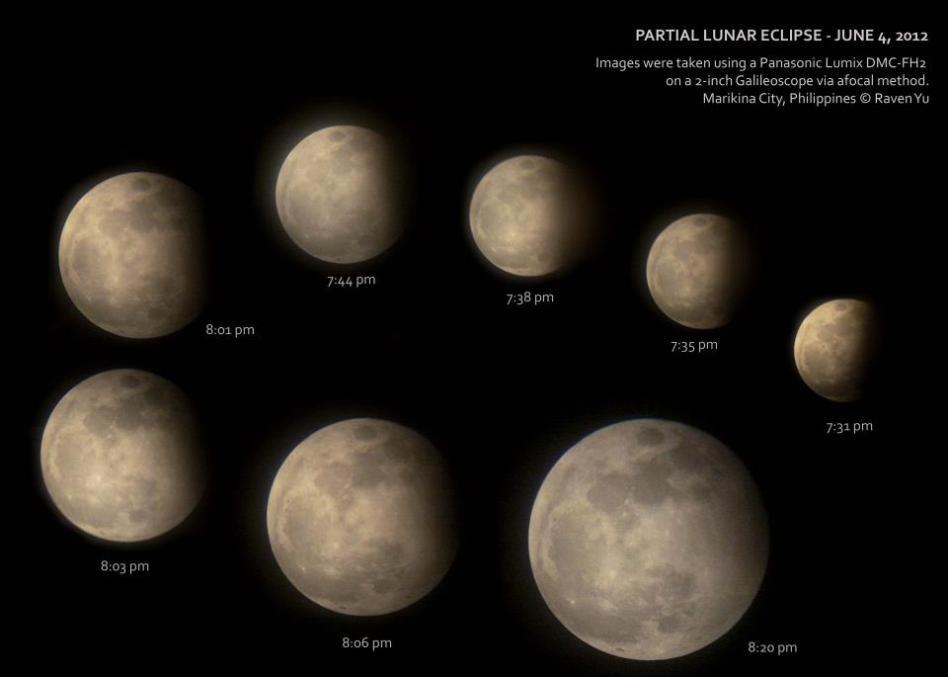 June 2012 Partial Lunar Eclipse Montage