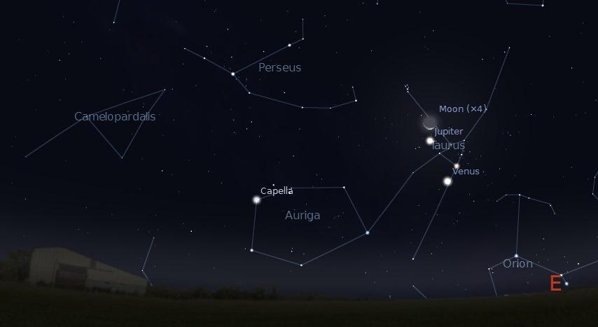 July 15 2012 moon venus jupiter at dawn
