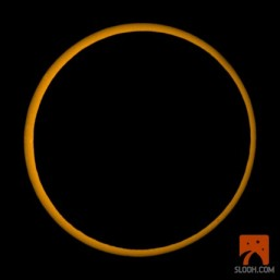 Screenshot from the live webcast from SLOOH Space Camera during the May 20, 2012 annular eclipse.